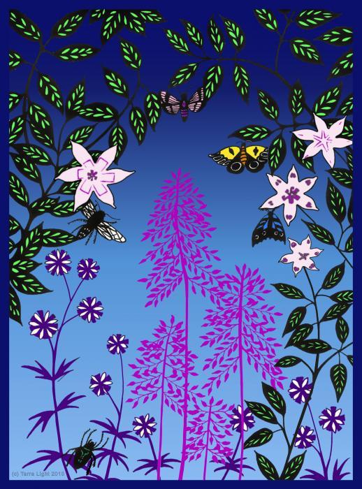 Fairy Garden By Tarra Light Print by Robert Bissett