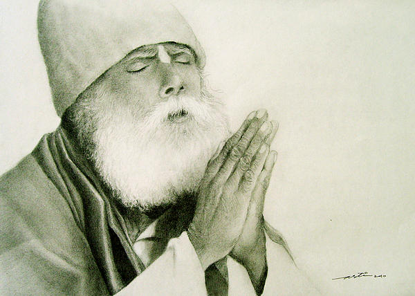 Faith -- Praying Drawing  - Faith -- Praying Fine Art Print