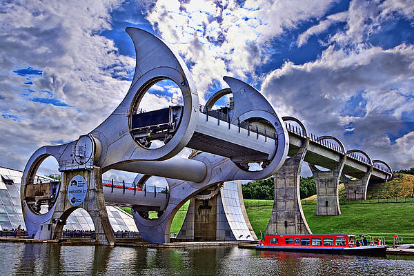 Falkirk Wheel Print by Wendy White