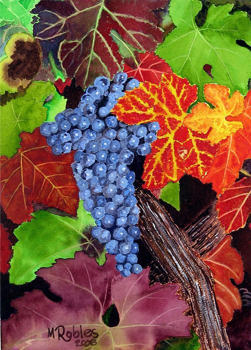Fall Cabernet Sauvignon Grapes Print by Mike Robles