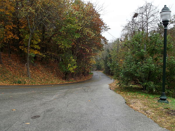 Fall Country Lane Print by CGHepburn Scenic Photos