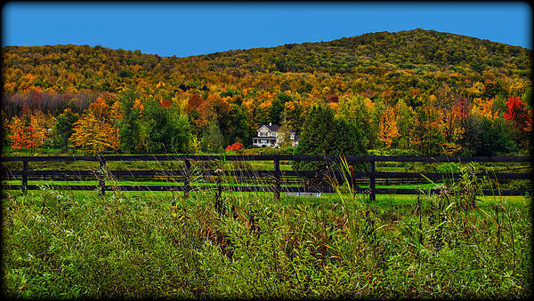 Fall Glory On The Other Side Of The Fence Print by Chantal PhotoPix