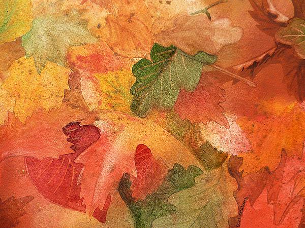 Fall Impressions II Print by Irina Sztukowski