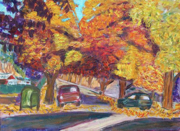 Fall In Santa Clara Print by Carolyn Donnell
