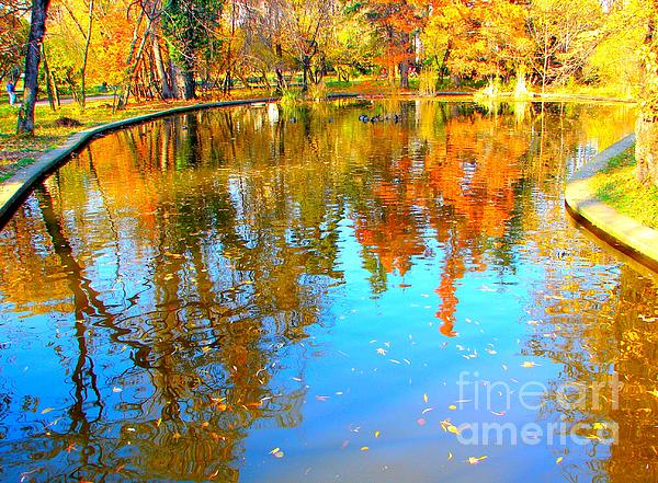 Fall Reflections Print by Ana Maria Edulescu