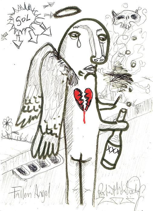Fallen Angel Print by Robert Wolverton Jr