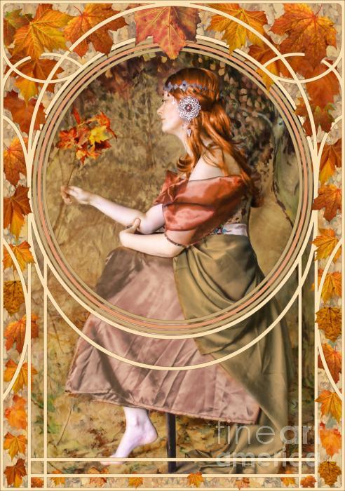 Falling Leaves Print by John Edwards