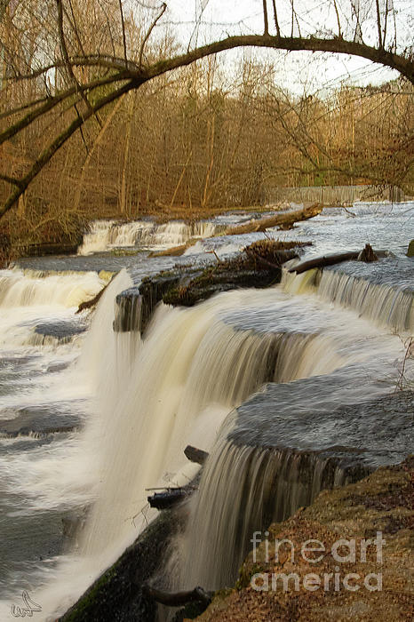 Falls At Old Stone Fort Print by Michael Flood