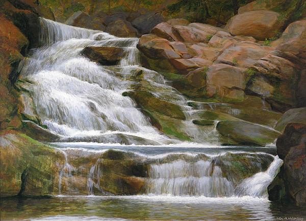 Falls Of Doodletown Creek Print by Glen Heberling