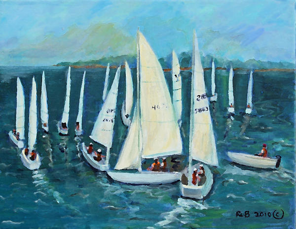 Falmouth Regatta Print by Rita Brown