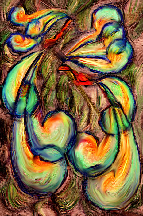 Fanciful Birds Print by Judi Quelland
