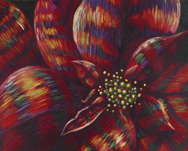 Fanciful Holiday Poinsettia Painting