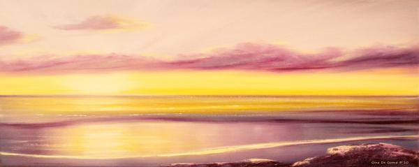 Fancy That - Purple Panoramic Sunset Painting  - Fancy That - Purple Panoramic Sunset Fine Art Print