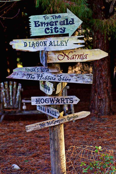 Fantasy Signs Print by Garry Gay