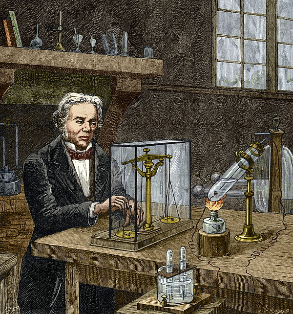 Faraday's Electrolysis Experiment, 1833 Print by Sheila Terry