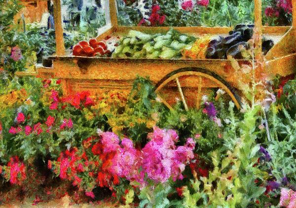 Farm - Food - At The Farmers Market Print by Mike Savad