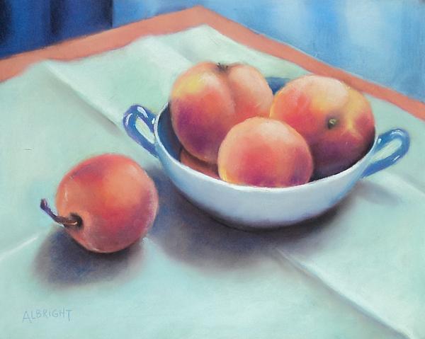 Farm Peaches Print by Judy Albright
