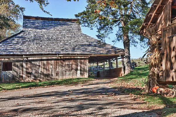 Farm Scene At Booker T. Washington National Monument Park Print by James Woody