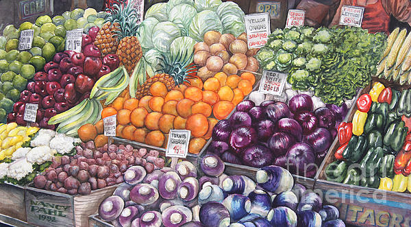 Farmers Market Print by Nancy Pahl