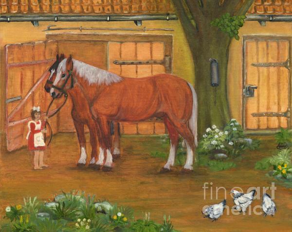 Farmyard Print by Anna Folkartanna Maciejewska-Dyba