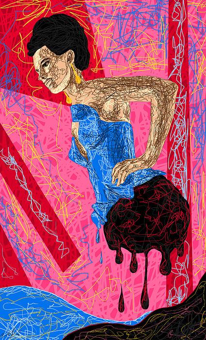 Fashion Abstraction De Angela Balderston Print by Kenal Louis
