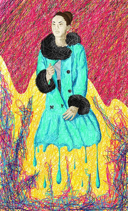 Fashion Abstraction De Eliana Smith Print by Kenal Louis