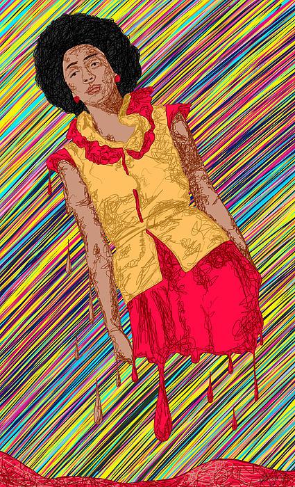 Fashion Abstraction De Fella Print by Kenal Louis