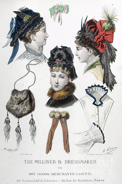 Fashion: Hats, C1875 Print by Granger