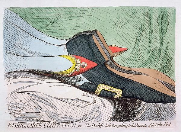 Fashionable Contrasts Print by James Gillray