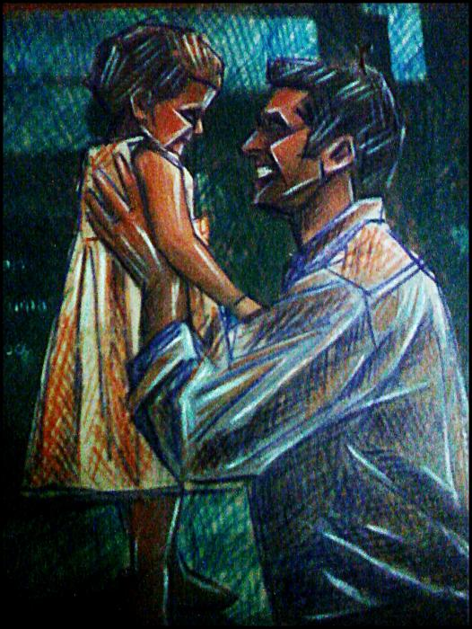Painting Of A Father And His  Daughters For Sale