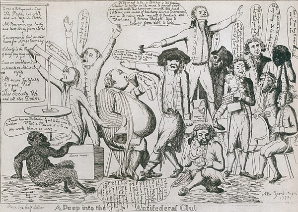 Federalist Cartoon Of 1793 Shows Print by Everett
