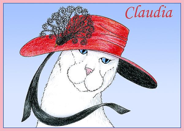 Feline Finery - Claudia Print by Alison Stein