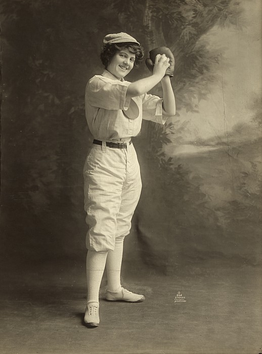 Female Baseball Player Print by Granger