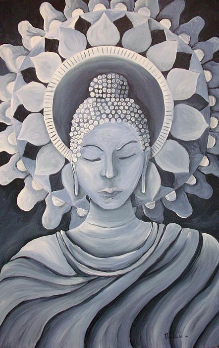 Feminine Buddha In A Peaceful Place Print by Nicole Werth