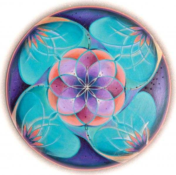 Feminine Vibration Mandala Painting  - Feminine Vibration Mandala Fine Art Print