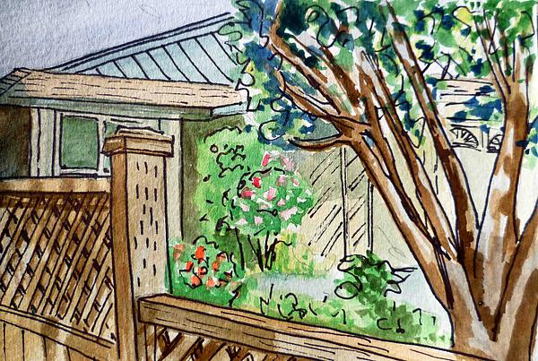 Fence Sketchbook Project Down My Street Print by Irina Sztukowski