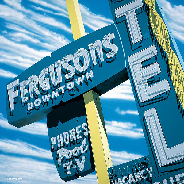 Fergusons Motel Las Vegas Print by Anthony Ross