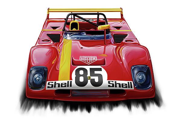Ferrari 312pb Group 6 Print by David Kyte