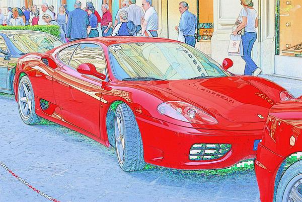 Ferrari In Rome Print by Don Fleming