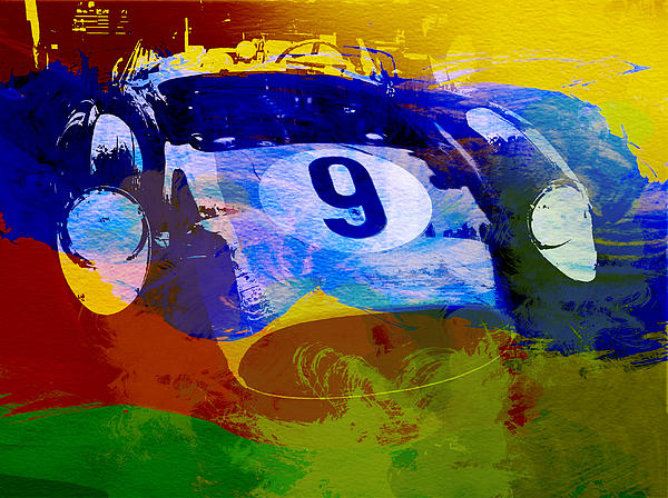 Ferrari Testarossa Watercolor Print by Naxart Studio