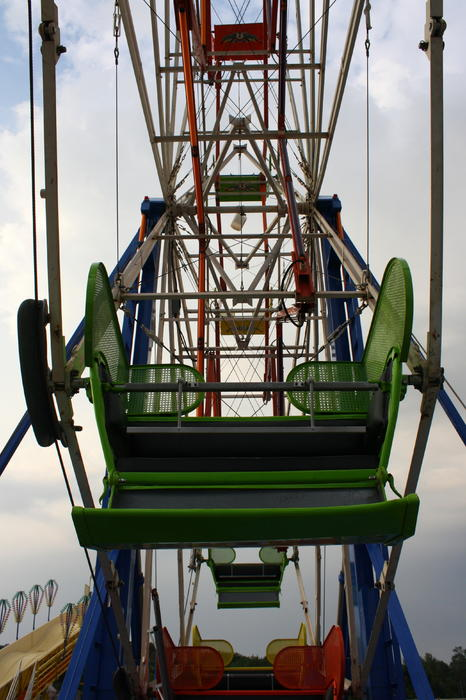 Ferris Wheel Print by Anne Babineau