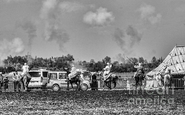 Festival Final Bw Print by Chuck Kuhn