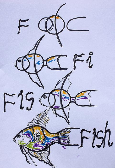 F...fi...fis...fish Print by Sladjana Endt