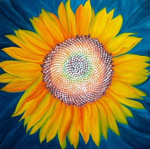 J A M Saylor - Fibonacci Sunflower No. One