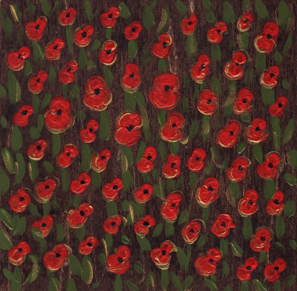 Field Of Poppys Painting  - Field Of Poppys Fine Art Print