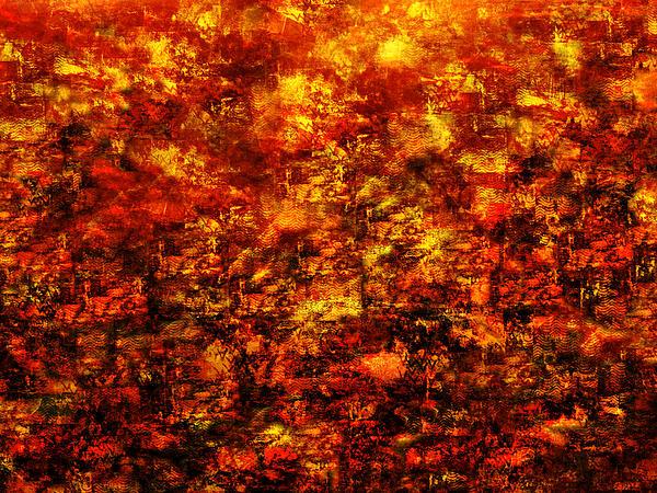 Fiery Print by Paul St George