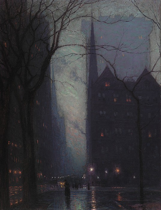 Fifth Avenue At Twilight Print by Lowell Birge Harrison