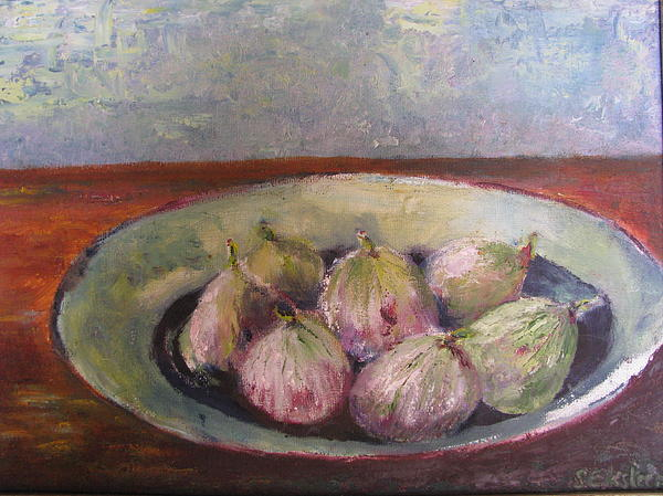 Figs In Summer Print by Sarie Eksteen