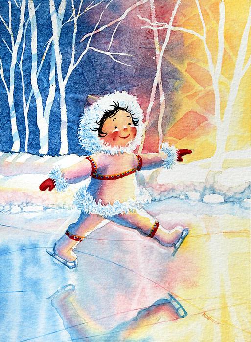 Figure Skater 11 Print by Hanne Lore Koehler