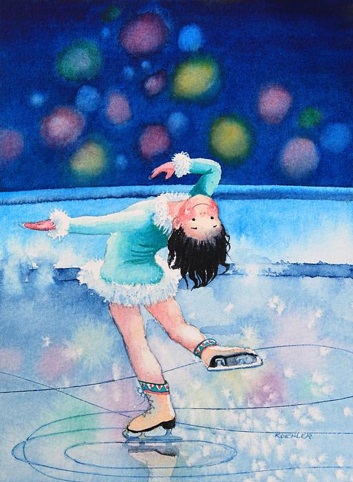 Figure Skater 16 Print by Hanne Lore Koehler